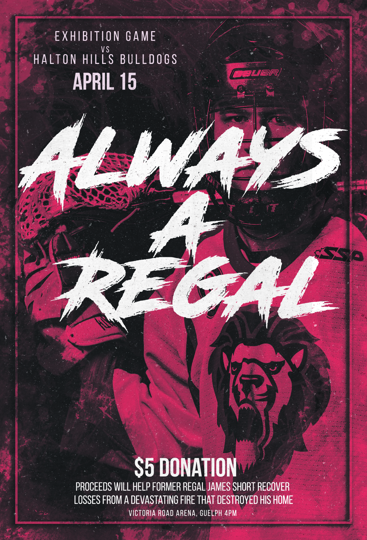 Regals Exhibition Game Poster